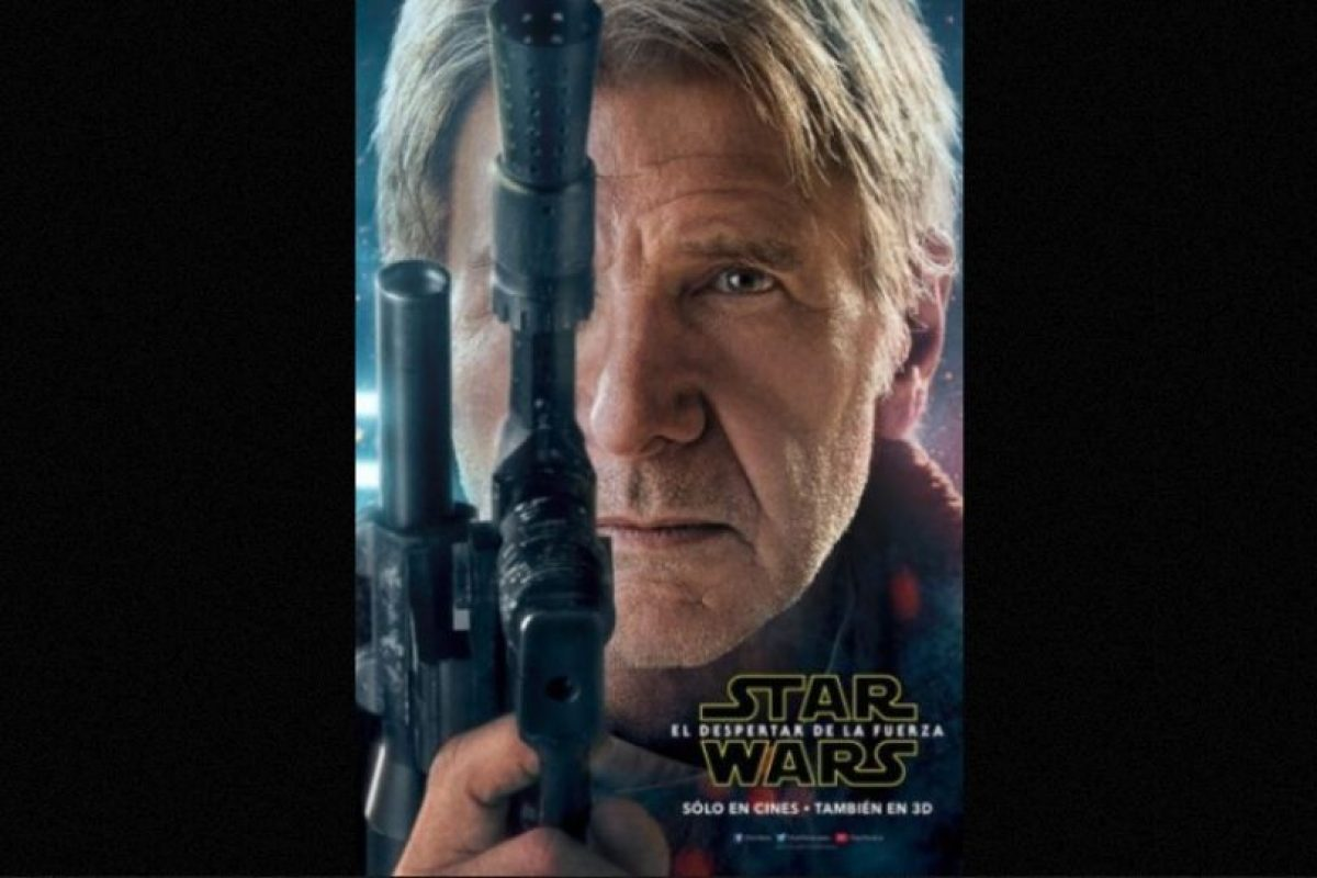 "Harrison Ford como ""Han Solo"" en nuevo póster de ""Star Wars: The Force Awakens"". Foto: Facebook/StarWars.LATAM. Imagen Por:"