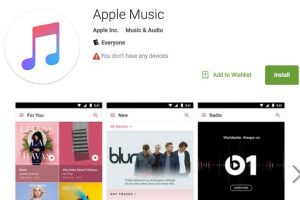 Apple Music ya disponible en Android. Foto: Google. Imagen Por: