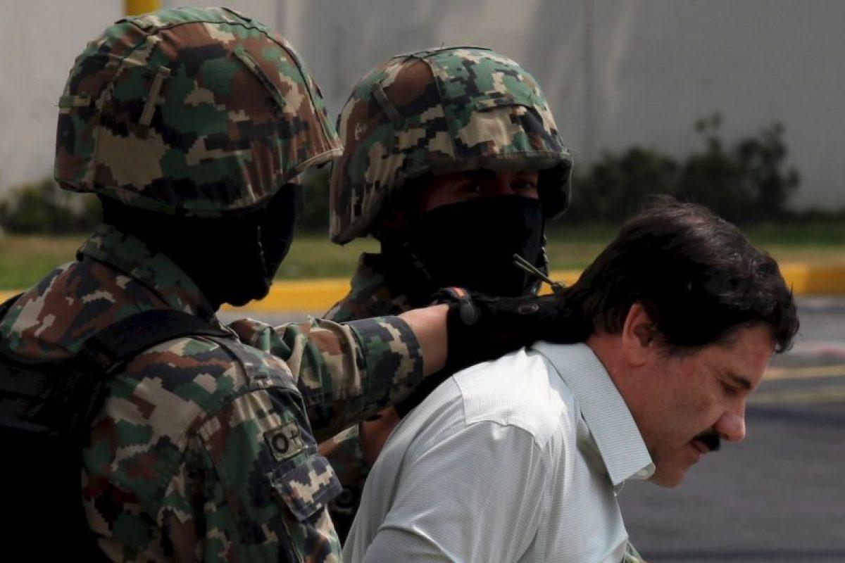 El narcotraficante mexicano fue capturado en febrero de 2014 y escapó 505 días después, el 11 de julio de 2015. Foto:AFP. Imagen Por: