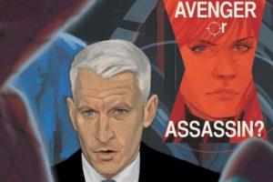 """Anderson Cooper hace un cameo breve en uno de los cómics de """"Black Widow"""". Foto:vía Marvel Cómics. Imagen Por:"""