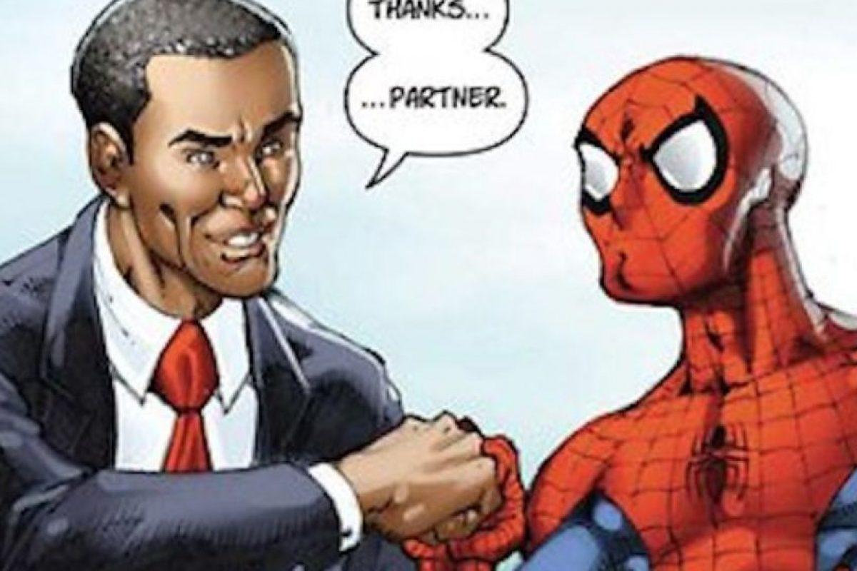 Al final los dos quedan como buenos amigos. Foto:vía Marvel Cómics. Imagen Por: