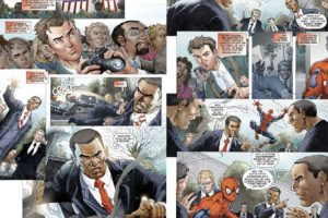 """""""Spiderman"""" salva a Obama de ser suplantado por un impostor, """"El Camaleón"""". Foto:vía Marvel Cómics. Imagen Por:"""
