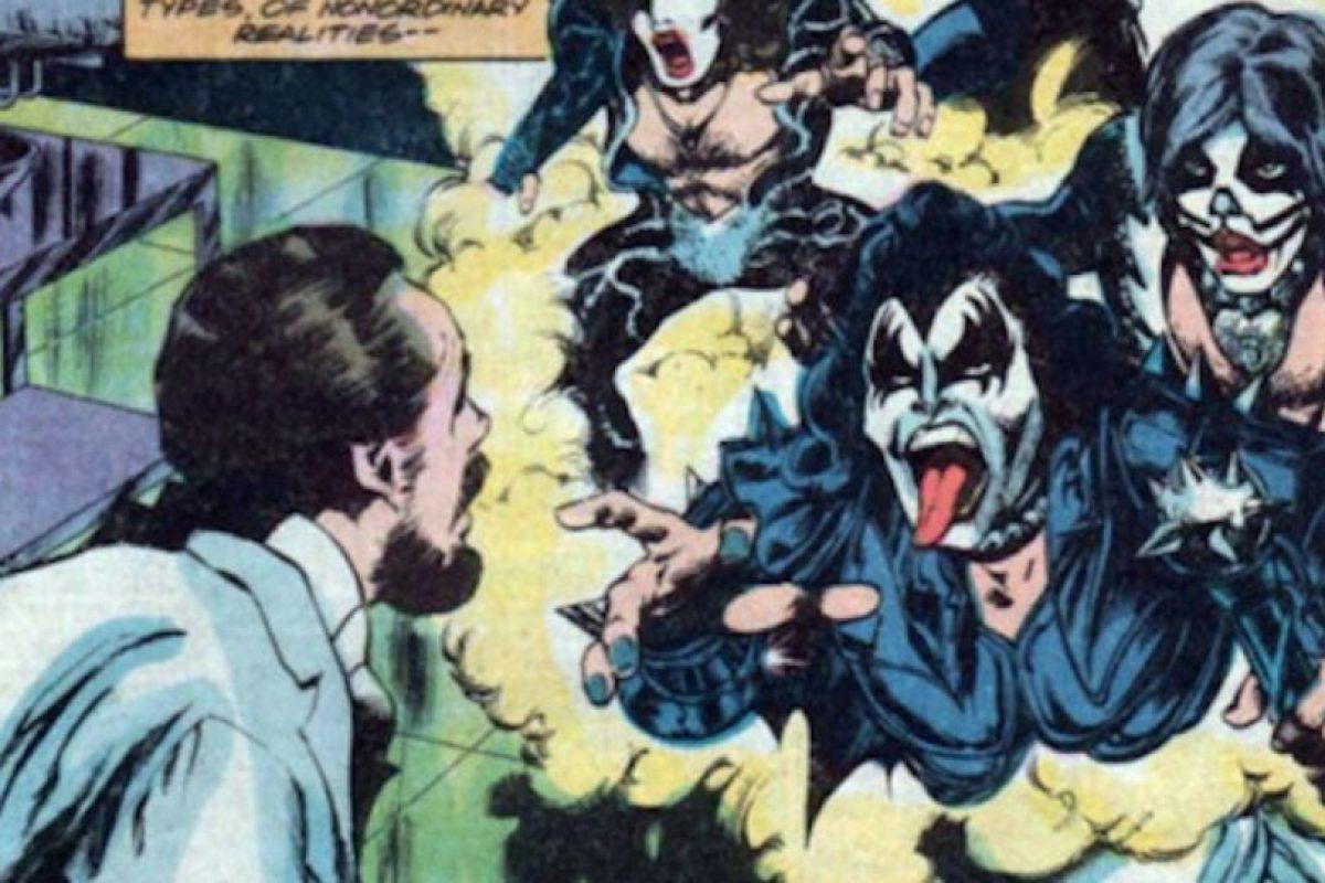 Kiss apareció en los años 70 en un cómic, en Marvel. Foto:vía Marvel Cómics. Imagen Por: