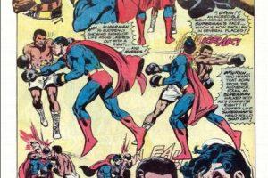 El cómic salió en los años 70. Luego de la paliza, el boxeador y Superman se alían. Foto:vía DC Cómics. Imagen Por:
