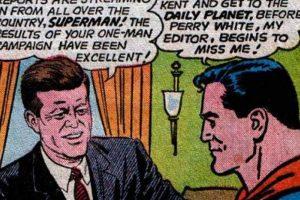 """John F. Kennedy llegó a ser """"jefe"""" de Superman. Foto:vía DC Cómics. Imagen Por:"""