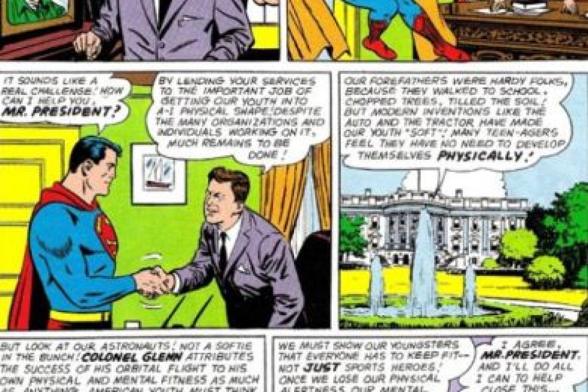El cómic salió en 1964, cuando Kennedy ya había muerto. Foto:vía DC Cómics. Imagen Por: