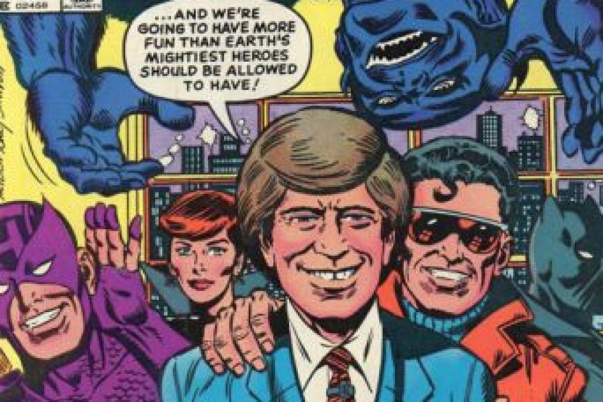 """David Letterman llegó a protagonizar un cómic con """"Los Vengadores"""" (sí, los de Marvel) en los años 80. Foto:vía Marvel Cómics. Imagen Por:"""
