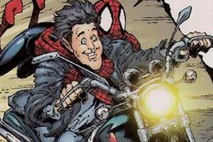 """En 2002, el presentador Jay Leno apareció con Spiderman en un cómic. Leno filma un comercial, lo atacan ninjas y """"Spidey"""" lo salva. Foto:vía Marvel Cómics. Imagen Por:"""