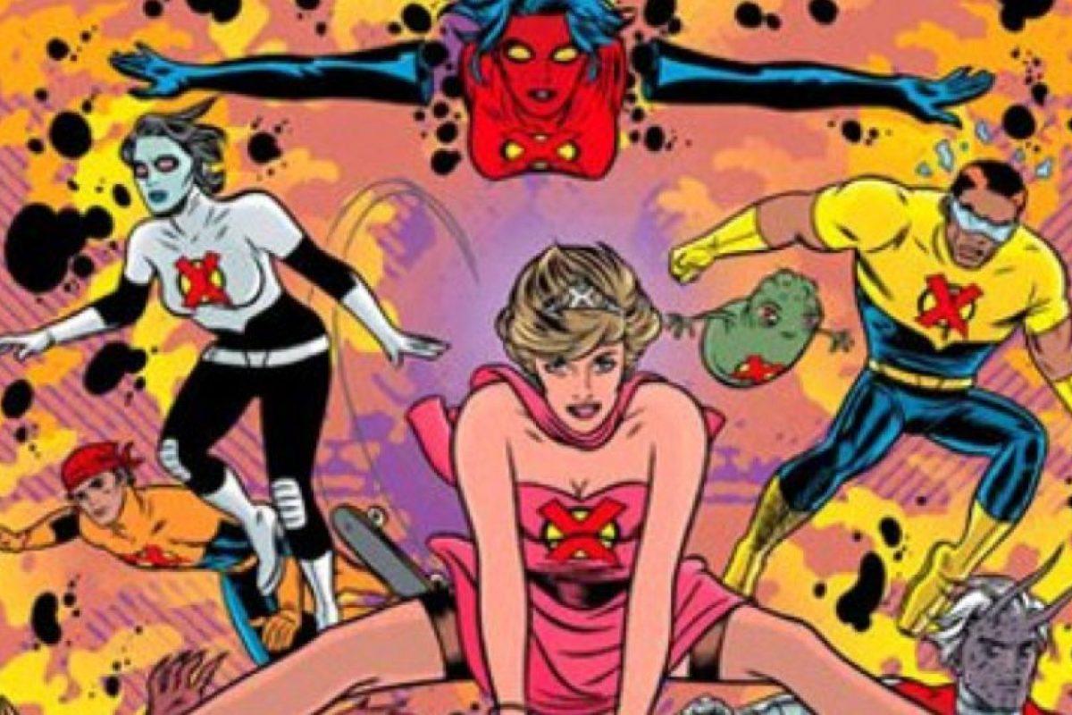 """Pertenecía al grupo de mutantes """"X-Tatix"""", compuesto originalmente por famosos. La trama original era que ella revivía de la muerte para luego convertirse en mutante y lucir este ridículo traje rosa. Foto:vía Marvel Cómics. Imagen Por:"""