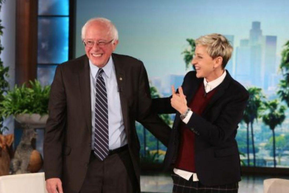 En el show de Ellen DeGeneres el precandidato aseguró que apoya su propaganda. Foto:Warner Bros. Television,. Imagen Por: