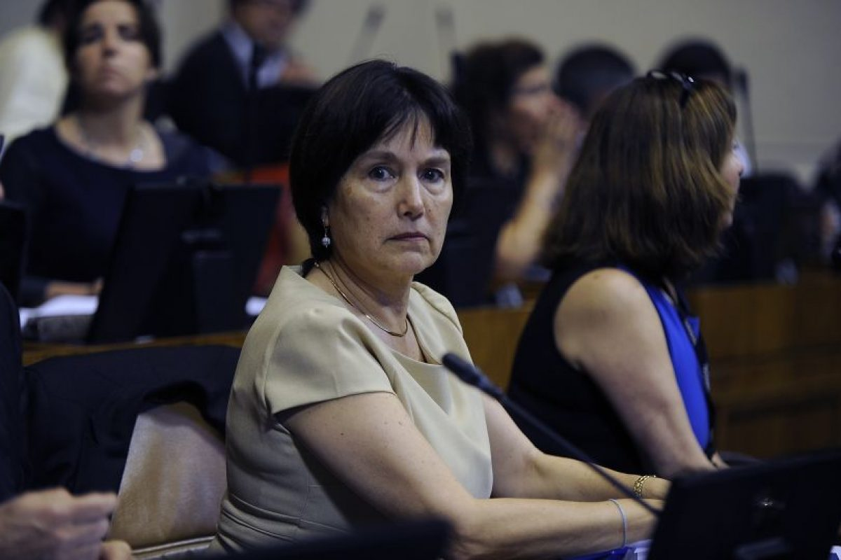 Ministra de salud, Carmen Castillo. Foto:Agencia Uno. Imagen Por: