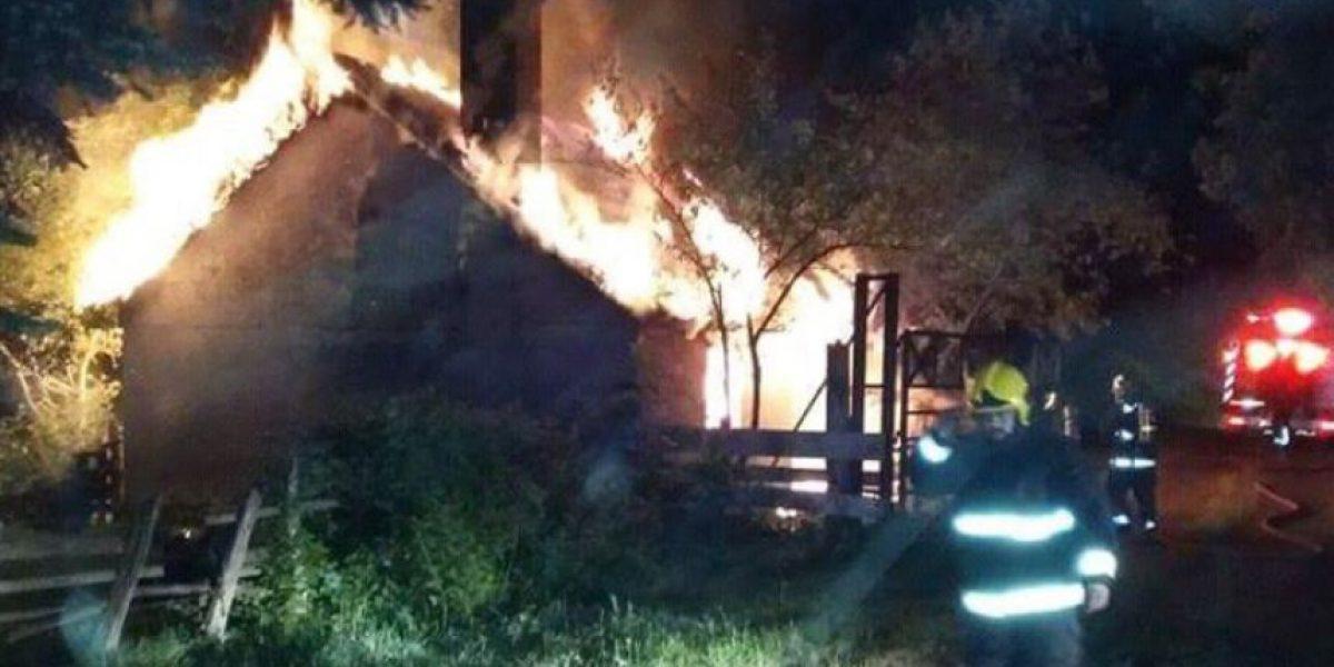 Investigan incendios simultáneos en fundo de Padre Las Casas