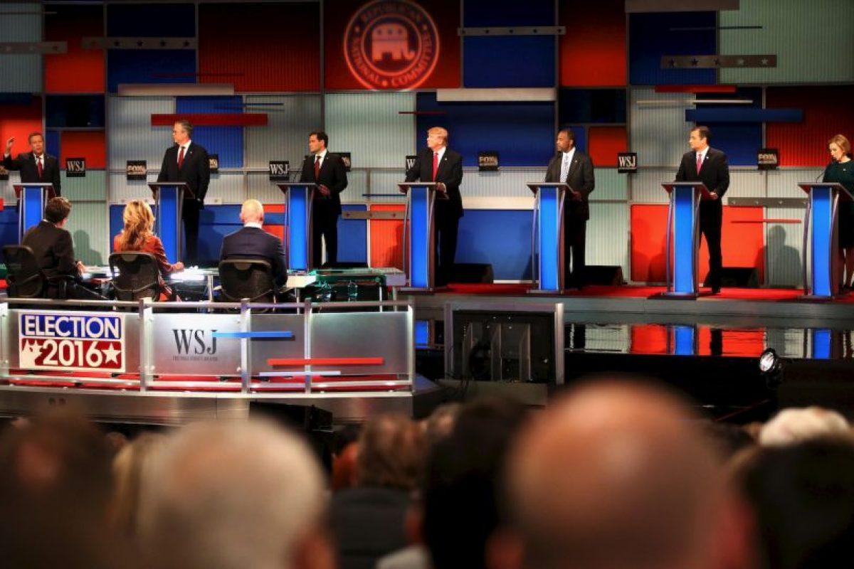 Los ataques a la precandidata republicana Hillary Clinton también estuvieron presentes. Foto:Getty Images. Imagen Por: