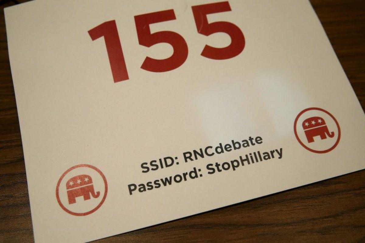 """La contraseña para utilizar el wi-fi era """"StopHillary"""" (Paren a Hillary). Foto:Getty Images. Imagen Por:"""