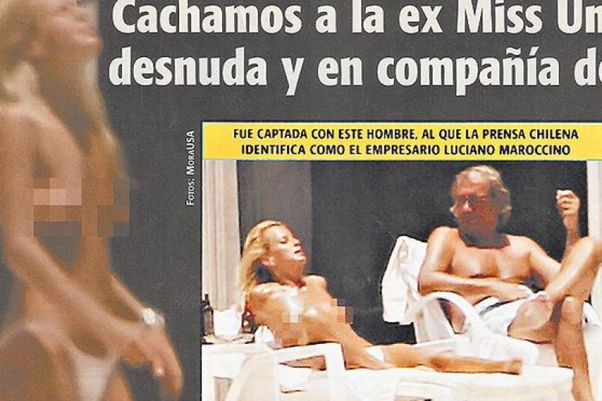 Cecilia Bolocco acusó invasión a la privacidad, pero las imágenes detonaron finalmente en su divorcio con Carlos Menem. Foto:Reproducción. Imagen Por: