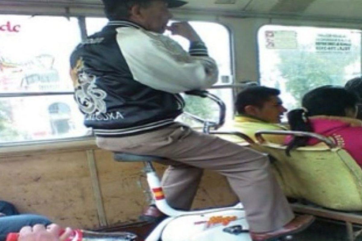 11. Otros que verdaderamente se suben hasta con la bicicleta… Foto:Reddit. Imagen Por: