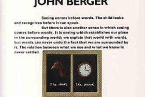 """""""Ways of seeing"""" de John Berger Foto:Amazon.com. Imagen Por:"""