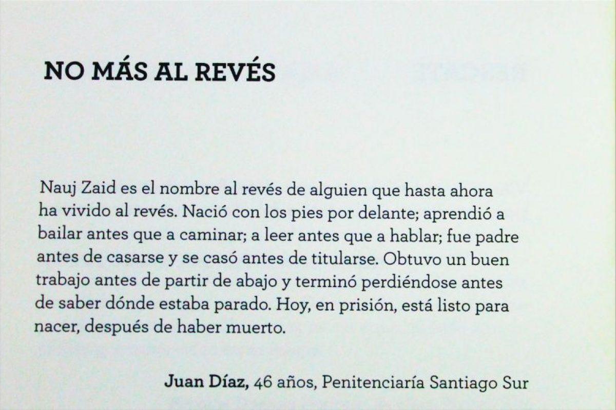 """Juan Díaz, 46 años, Penitenciaría Santiago Sur Foto:Captura libro """"Los mejores cien cuentos IX"""". Imagen Por:"""