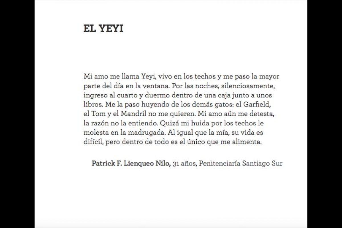 """Patrick F. Lienqueo Nilo, 31 años, Penitenciaría Santiago Sur Foto:Captura libro """"Los mejores cien cuentos IX"""". Imagen Por:"""