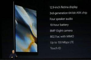 Características de la iPad Pro. Foto:Getty Images. Imagen Por: