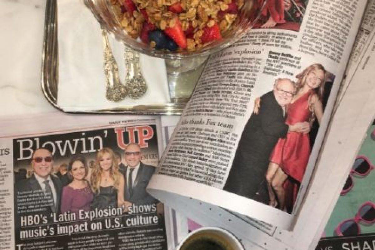 """La pasada noche del 10 de noviembre, Thalía asistió al estreno del documental """"Latin Explosion: A New America"""". Foto:Getty Images. Imagen Por:"""
