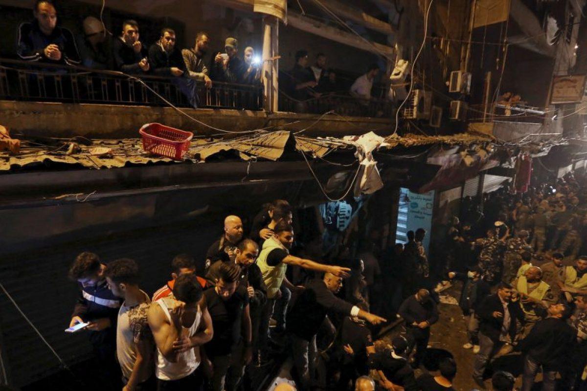 Todo ocurrió en un barrio de Beirut, Líbano. Foto:AP. Imagen Por: