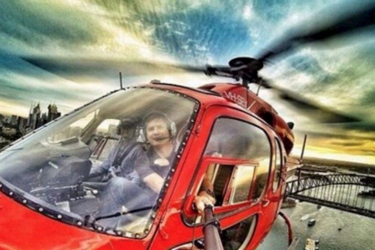 En el helicóptero. Foto:Brewed.nl. Imagen Por: