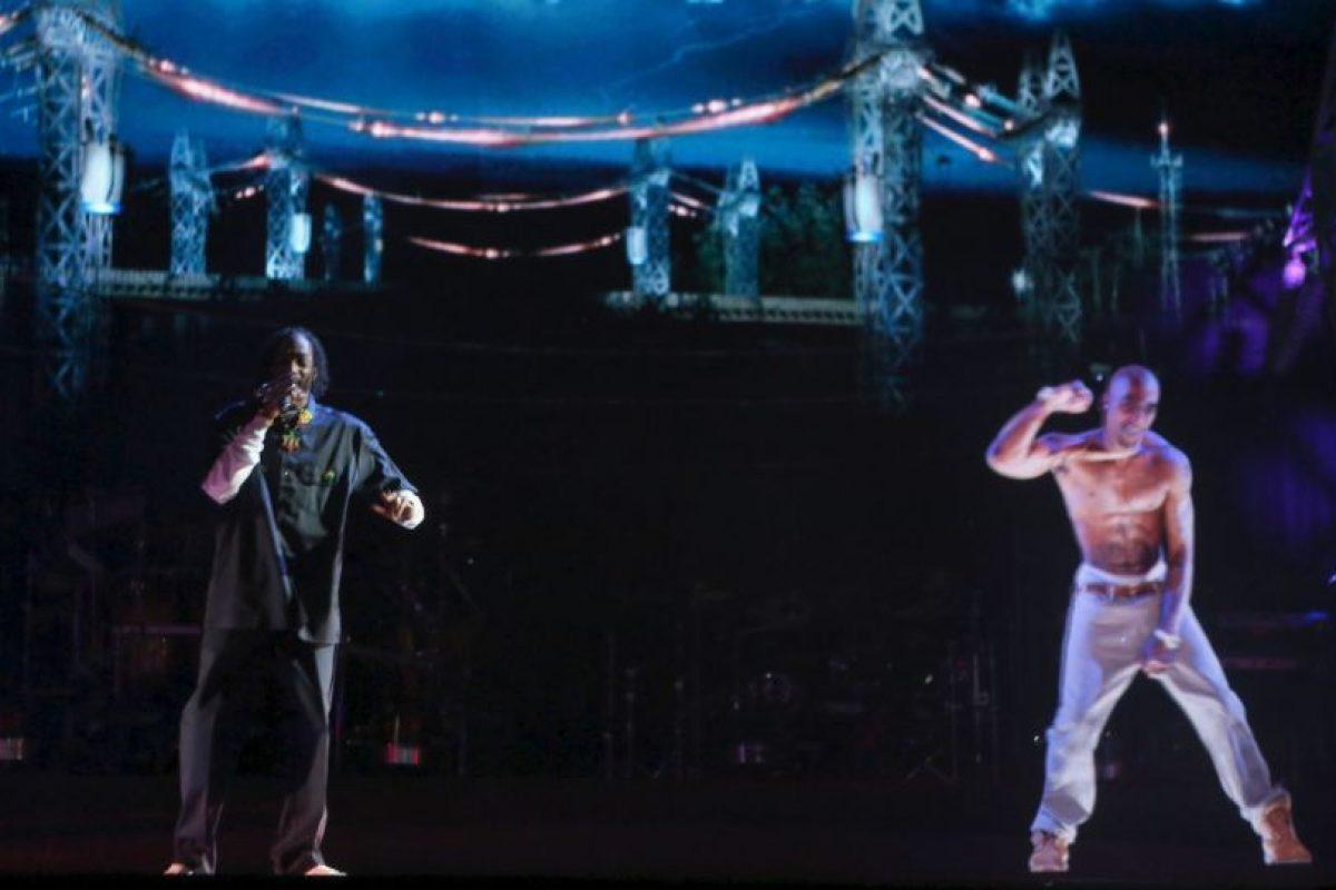En 2012, un holograma de Tupac Shankur fue presentado en el Festival de Coachella Foto:Getty Images. Imagen Por: