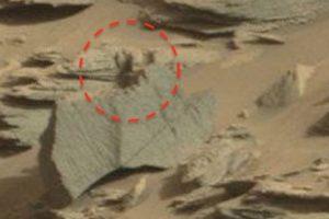 """Este es el supuesto """"escorpión alienígena"""" captado en Mart Foto:NASA. Imagen Por:"""