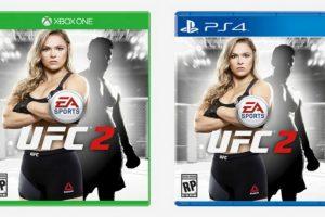 """Ronda Rousey en la portada de """"UFC 2"""". Foto:EA Sports. Imagen Por:"""