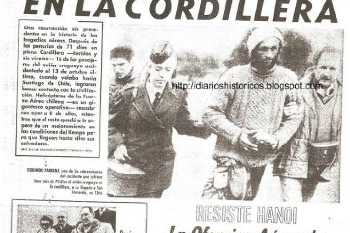 La caída, en la Cordillera de Los Andes, del avión que transladaba a deportistas uruguayos sucedió en este día. Foto:Wikimedia.org. Imagen Por: