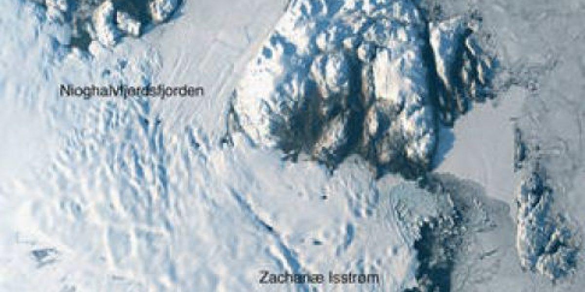 NASA advierte de peligroso desprendimiento de glaciar en Groenlandia