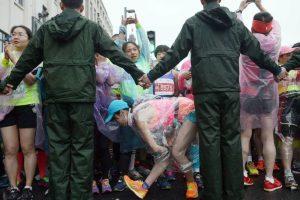 Corredoras en el Maratón Internacional de Shangai. Foto:AFP. Imagen Por: