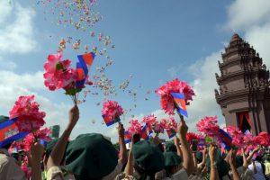 Festival de independencia en Camboya. Foto:AFP. Imagen Por: