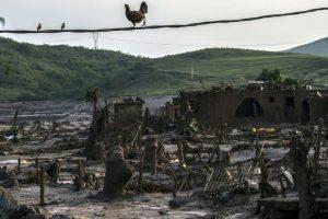 El pueblo brasileño Bento Rodrigues a tres días de que sufriera una avalancha de lodo. Foto:AFP. Imagen Por: