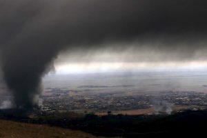Humo tras bombardeos en Irak. Foto:AFP. Imagen Por:
