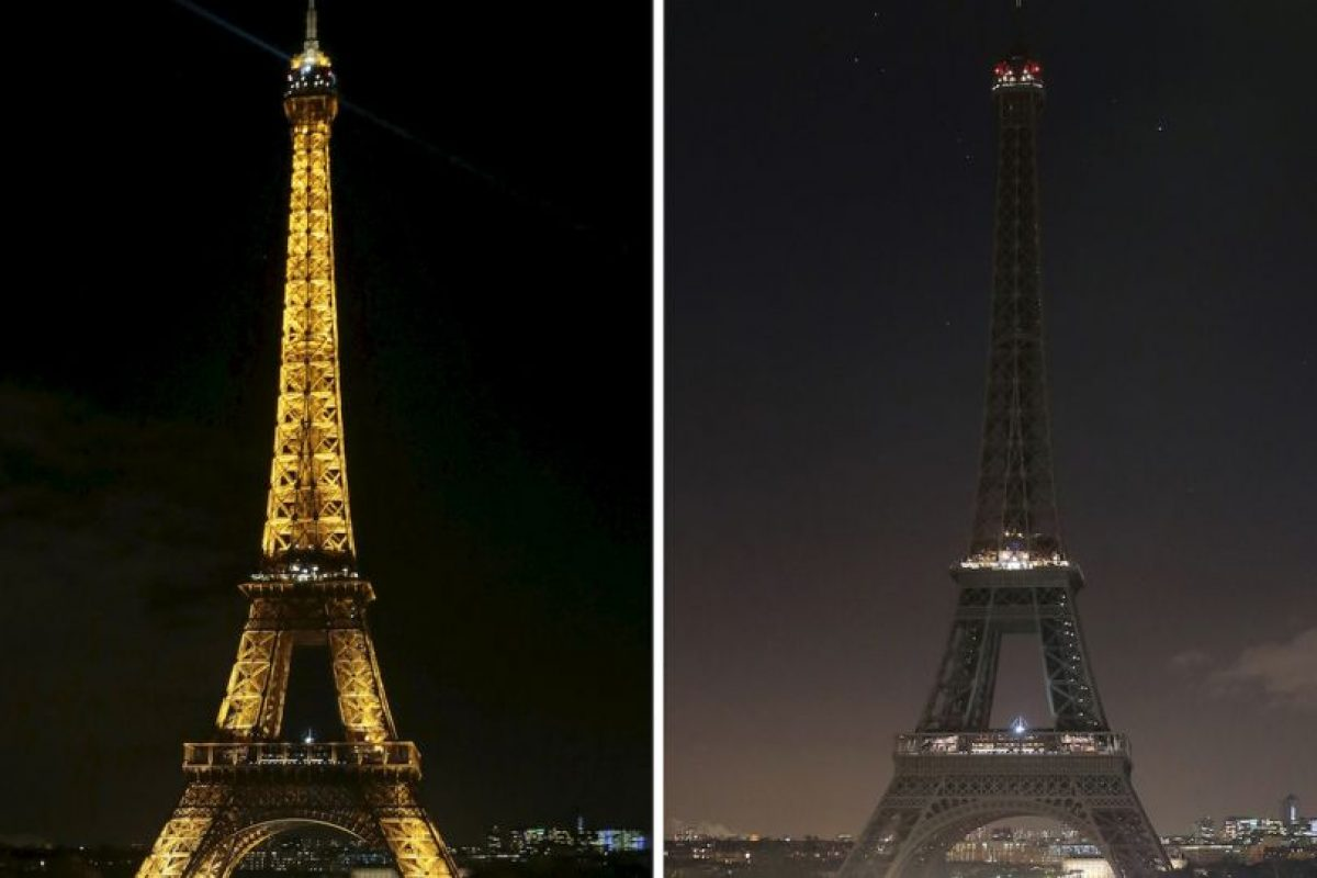 La Torre Eiffel se apagó en honor a las víctimas. Foto:AFP. Imagen Por: