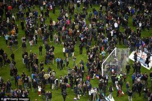 Así reaccionó el público al momento de la detonaciones. Foto:Getty Images. Imagen Por: