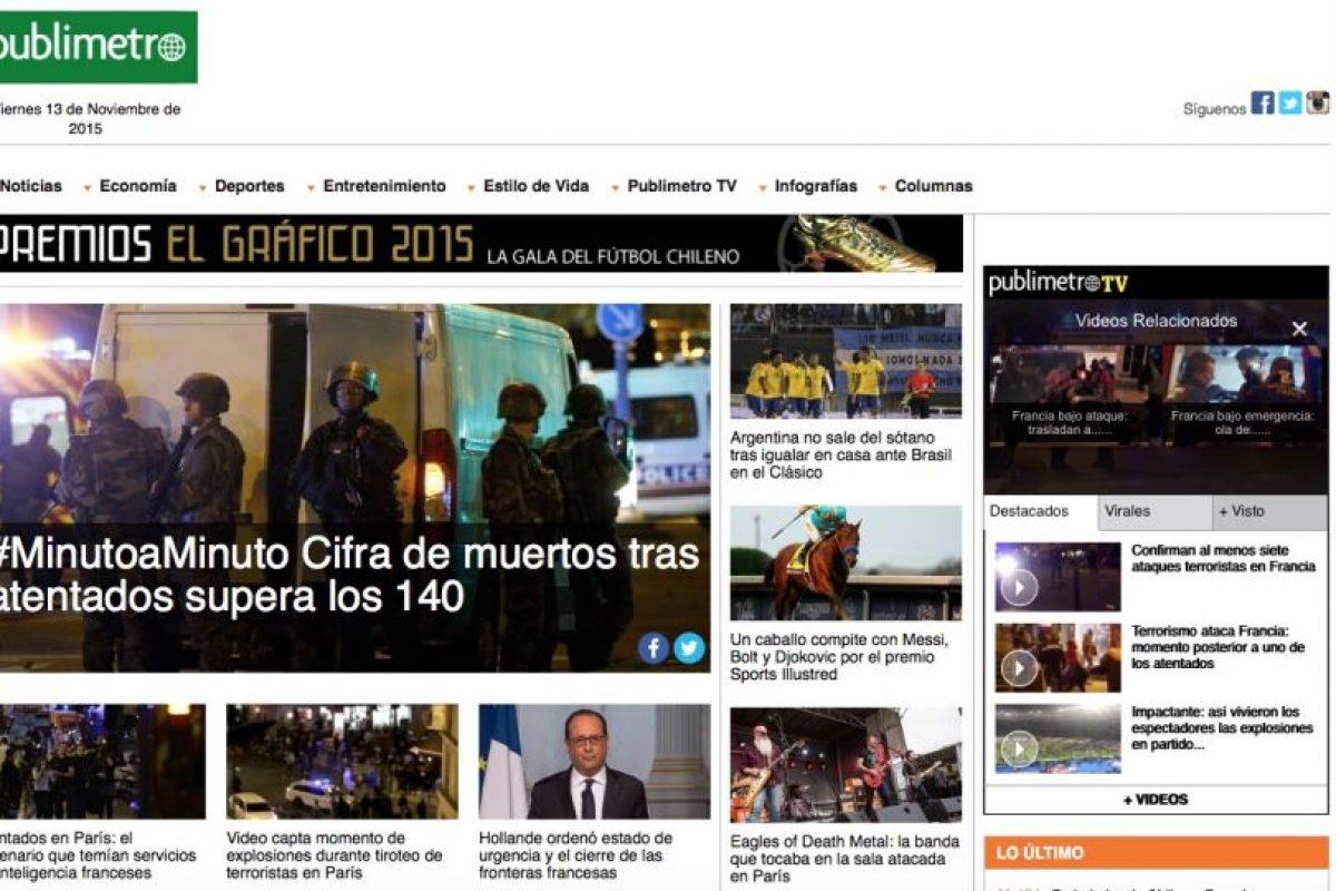 Publimetro Chile. Foto:Reproducción. Imagen Por: