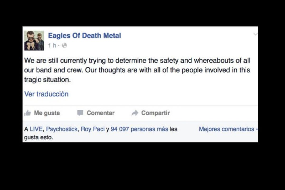 Cosa que el crew de la banda no confirma oficialmente. Foto:vía Facebook. Imagen Por:
