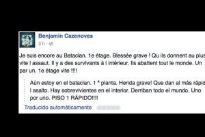 La descripción de uno de los supuestos testigos se hace viral. Benjamin Cazenoves describe que los están matando a todos. Foto:vía Facebook. Imagen Por: