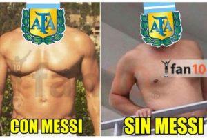 Lionel Messi fue el más extrañado de la noche. Foto:Twitter. Imagen Por: