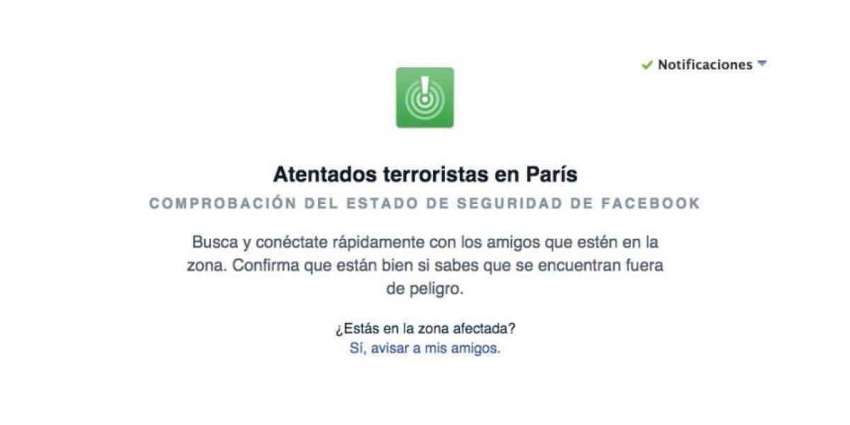 Facebook les avisará si sus amigos en Francia se encuentran a salvo