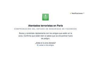 Facebook les permite conocer cómo están sus amigos en Francia. Foto:Facebook. Imagen Por: