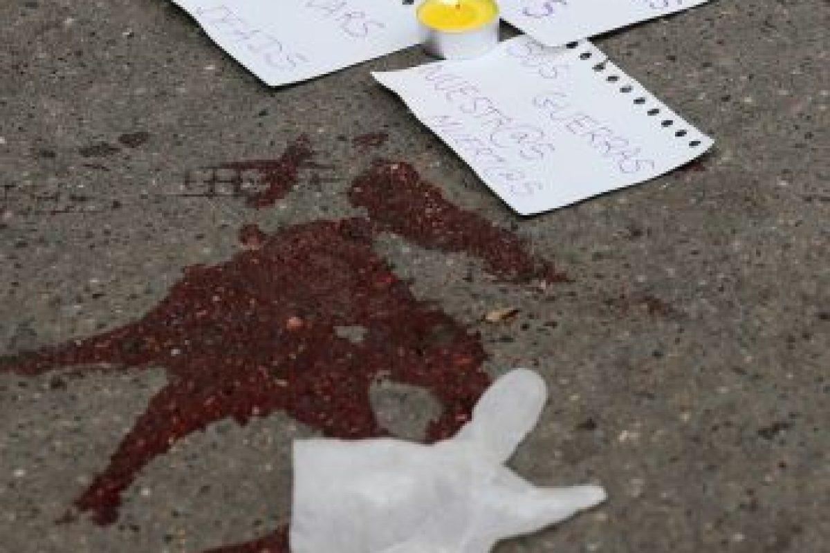 """""""Sus guerras, nuestros muertos"""". Foto:Getty Images. Imagen Por:"""