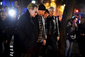 Bono y los integrantes de U2, acudieron al salón Bataclán, donde murieron más de 100 personas. Foto:Getty Images. Imagen Por: