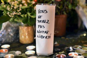 """""""Ustedes no matarán nuestra libertad"""". Foto:Getty Images. Imagen Por:"""