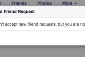 Ya no puede recibir más solicitudes de amistad. Foto:vía Facebook/Isobel Bowdery. Imagen Por: