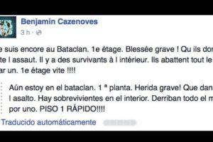 El joven Benjamin Cazenoves publicó lo que pasaba en el lugar en vivo y en directo. Foto:vía Facebook/Benjamin Cazenoves. Imagen Por: