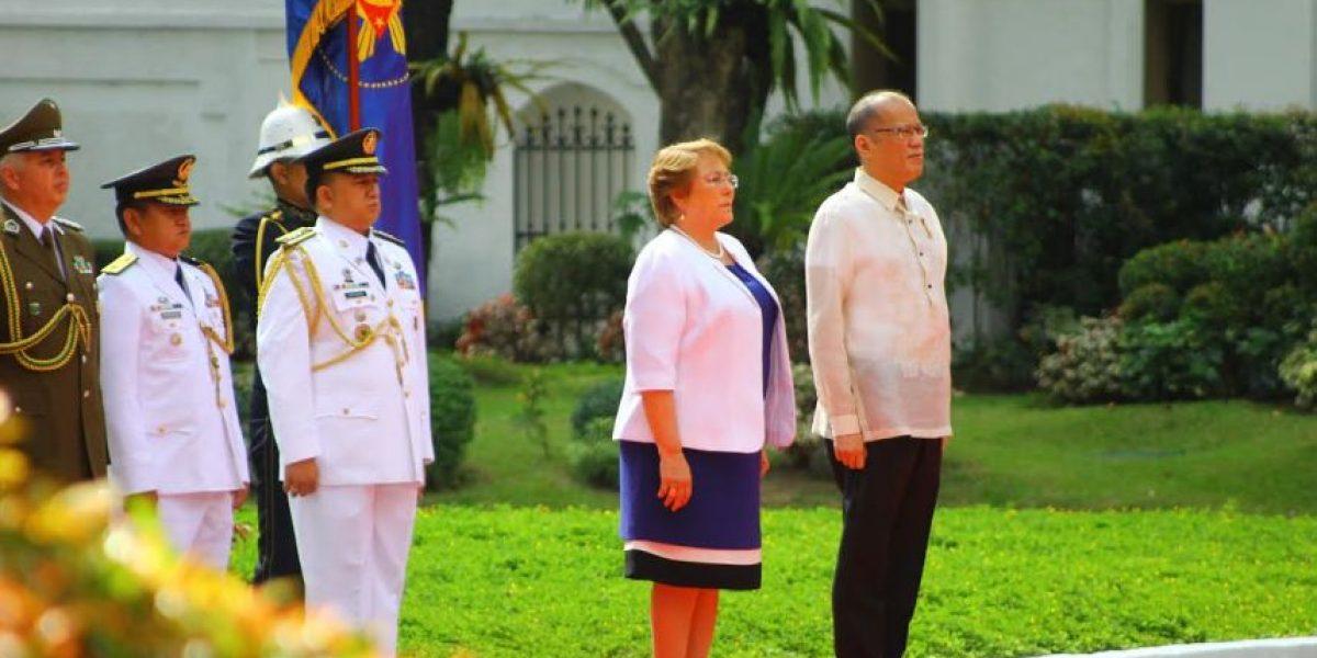Este fue el exótico homenaje que recibió Bachelet del gobierno filipino